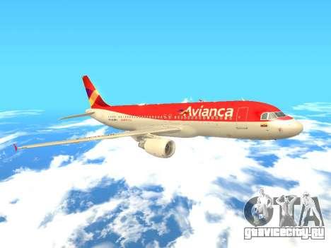 Airbus A320 Avianca Columbia для GTA San Andreas