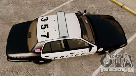 Ford Crown Victoria LCPD [ELS] для GTA 4 вид справа