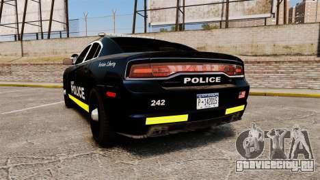 Dodge Charger 2013 LCPD [ELS] для GTA 4 вид сзади слева