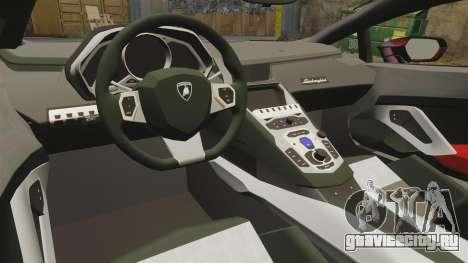 Lamborghini Huracan LP610-4 2014 Red Bull для GTA 4 вид изнутри