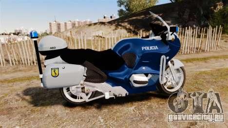 BMW R1150RT Portuguese Police [ELS] для GTA 4 вид слева