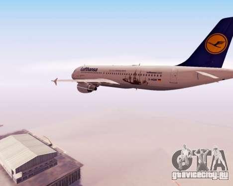 Airbus A320-200 Lufthansa для GTA San Andreas вид сверху