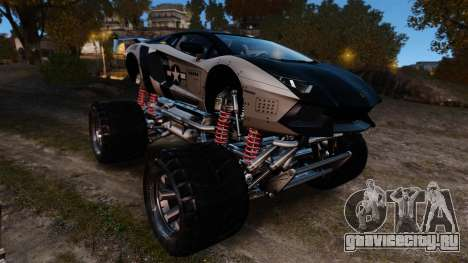 Lamborghini Aventador LP700-4 [Monster truck] для GTA 4 вид изнутри