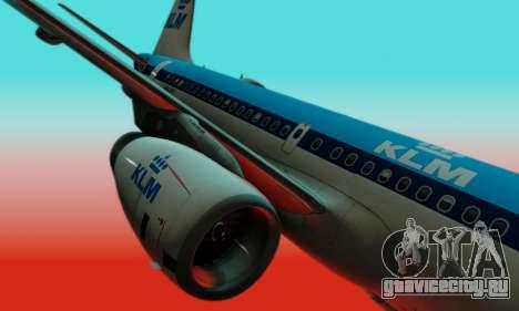 Airbus A319 KLM для GTA San Andreas вид изнутри