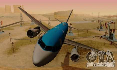 Airbus A319 KLM для GTA San Andreas вид слева
