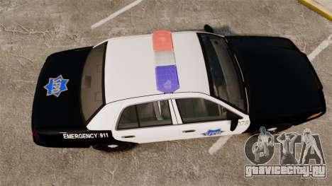 Ford Crown Victoria San Francisco Police [ELS] для GTA 4 вид справа