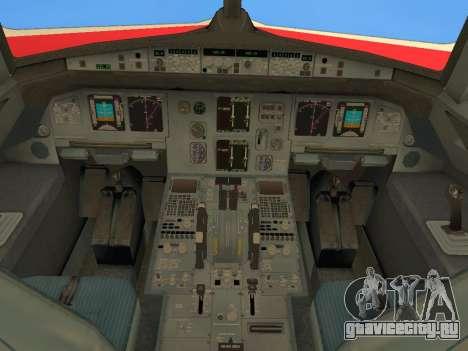 Airbus A320 Avianca Columbia для GTA San Andreas вид сверху