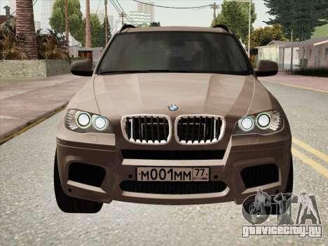 BMW X5M E70 2010 для GTA San Andreas вид сзади слева