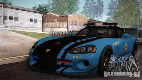 Dodge Viper SRT 10 ACR Police Car для GTA San Andreas