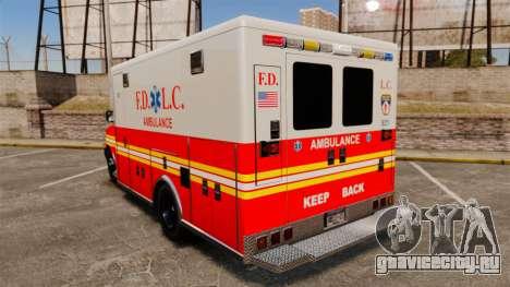 Brute Speedo FDLC Ambulance [ELS] для GTA 4 вид сзади слева