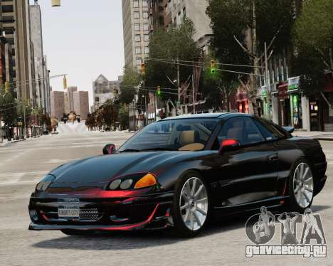 Dodge Stealth Turbo RT 1996 для GTA 4 вид сверху