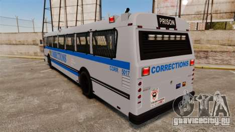 Brute Bus Corrections [ELS] для GTA 4 вид сзади слева