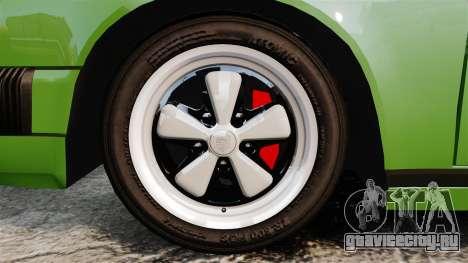 Porsche 911 Targa 1974 для GTA 4 вид сзади