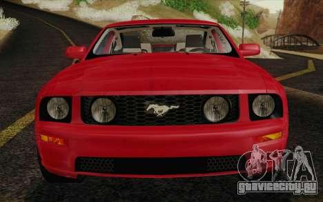 Ford Mustang GT 2005 для GTA San Andreas вид сверху