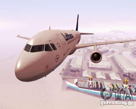 Airbus A320-200 Lufthansa для GTA San Andreas вид сбоку