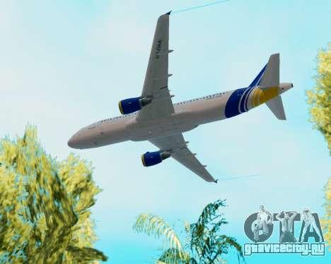 Airbus A320-200 Донбассаэро для GTA San Andreas вид сверху