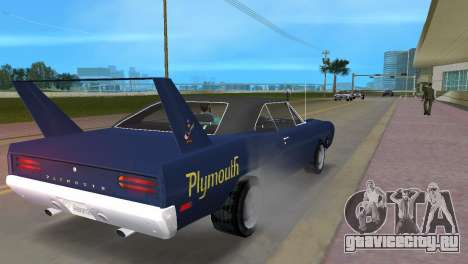 Plymouth Superbird для GTA Vice City вид справа