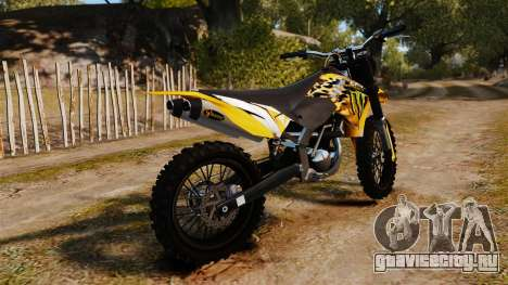 KTM 450 EXC Monster Energy для GTA 4 вид слева