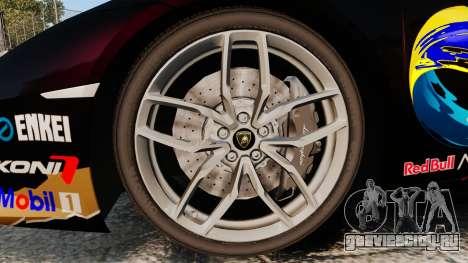 Lamborghini Huracan LP610-4 2014 Red Bull для GTA 4 вид сзади
