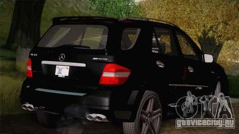 Mercedes-Benz ML63 для GTA San Andreas вид сзади слева