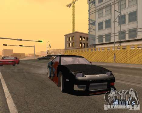Nissan 150sx Evil Empire для GTA San Andreas вид сзади