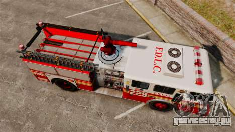 Fire Truck v1.4A FDLC [ELS] для GTA 4 вид справа