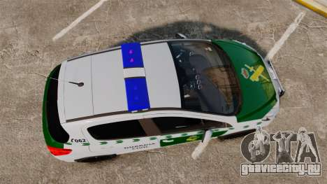 Peugeot 308 GTi 2011 Guardia Civil для GTA 4 вид справа