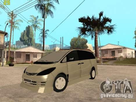 Toyota Estima Altemiss 2wd для GTA San Andreas