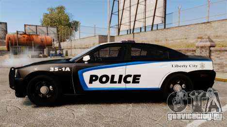 Dodge Charger 2013 Liberty City Police [ELS] для GTA 4 вид слева