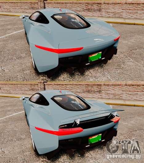 Jaguar C-X75 2014 [EPM] для GTA 4 вид сверху