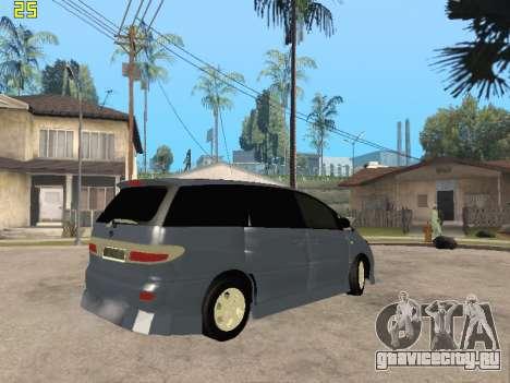 Toyota Estima Altemiss 2wd для GTA San Andreas вид изнутри
