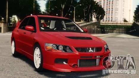 Mitsubishi Lancer Evolution IX для GTA 4