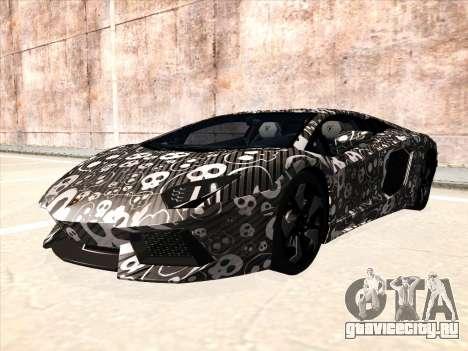 Lamborghini Aventador LP700-4 2013 для GTA San Andreas вид сзади слева