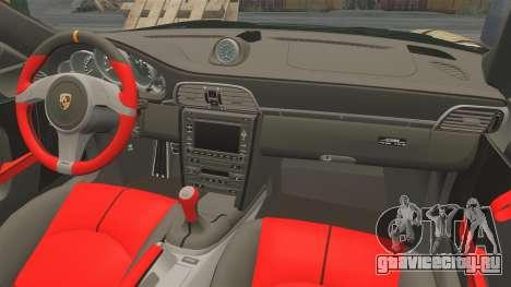 Porsche 911 GT2 RS 2012 BLOB для GTA 4 вид изнутри