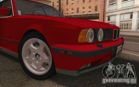 BMW M5 E34 1991 NA-spec для GTA San Andreas вид сзади