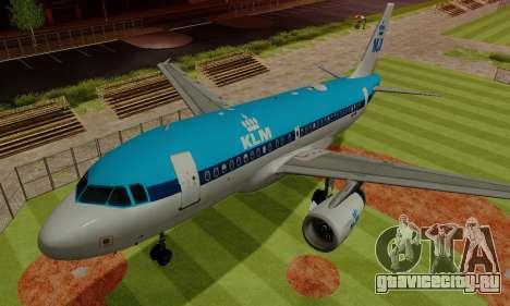 Airbus A319 KLM для GTA San Andreas вид сверху