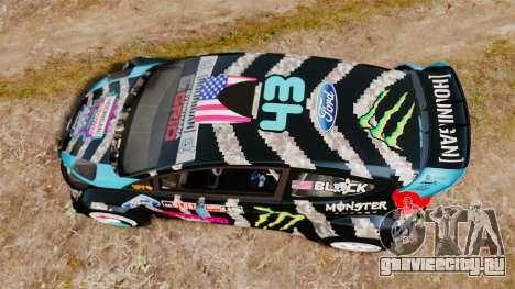 Ford Fiesta RS [Hoonigan] для GTA 4 вид справа