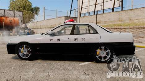 Nissan Skyline ER34 Police для GTA 4 вид слева