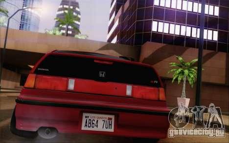 Honda CRX Low Gang для GTA San Andreas вид слева