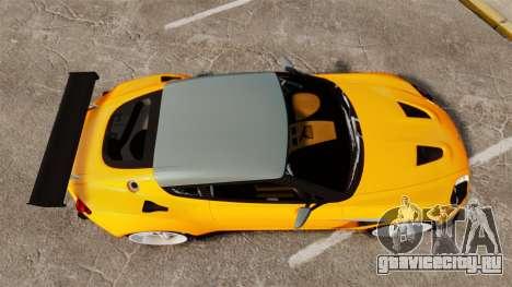 Aston Martin V12 Zagato для GTA 4 вид справа