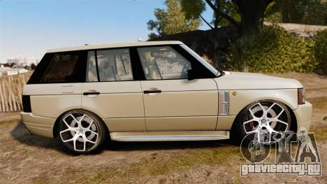 Range Rover Supercharger 2008 для GTA 4 вид слева