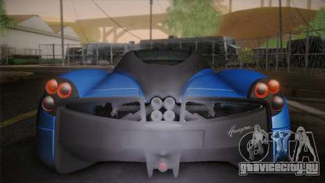 Pagani Huayra для GTA San Andreas вид снизу