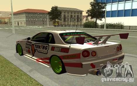 Nissan Skyline R-34 RDS для GTA San Andreas вид слева