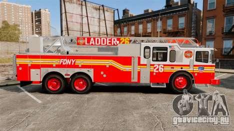 Ferrara 100 Aerial Ladder FDNY [working ladder] для GTA 4 вид слева