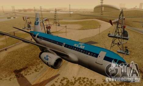 Airbus A319 KLM для GTA San Andreas вид сзади слева