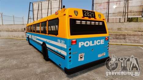 Brute Bus LCPD [ELS] v2.0 для GTA 4 вид сзади слева