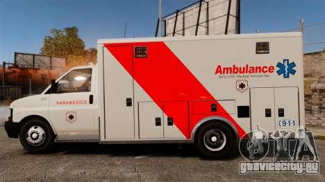 Brute Speedo RLMS Ambulance [ELS] для GTA 4 вид слева