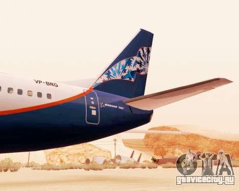 Boeing 737-500 Аэрофлот Норд для GTA San Andreas вид справа