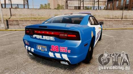 Dodge Charger 2013 Liberty County Police [ELS] для GTA 4 вид сзади слева