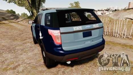 Ford Explorer 2013 MSP [ELS] для GTA 4 вид сзади слева